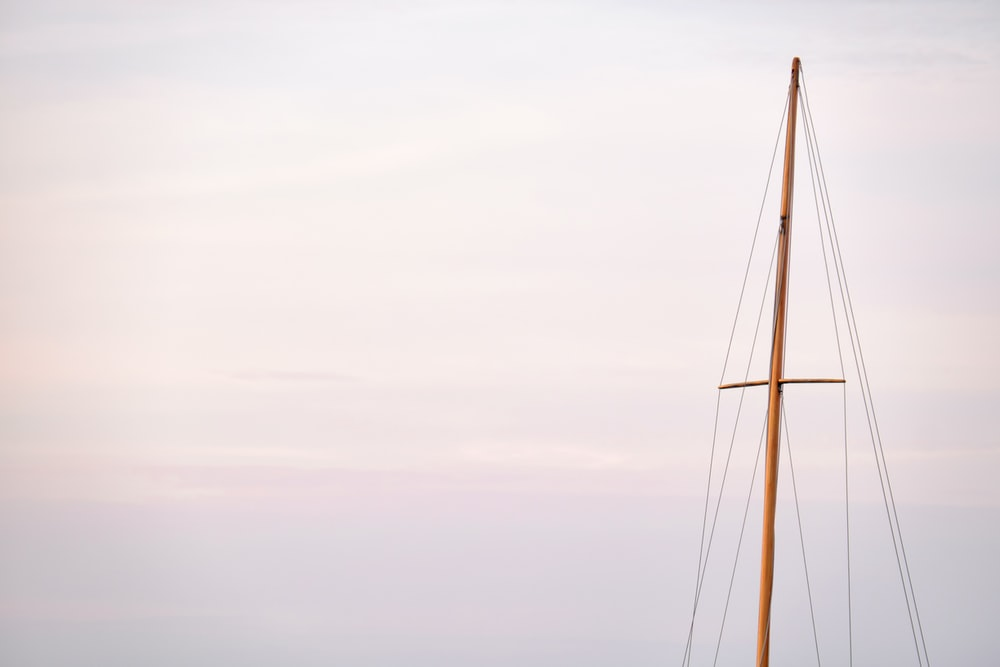 boat sail post during day