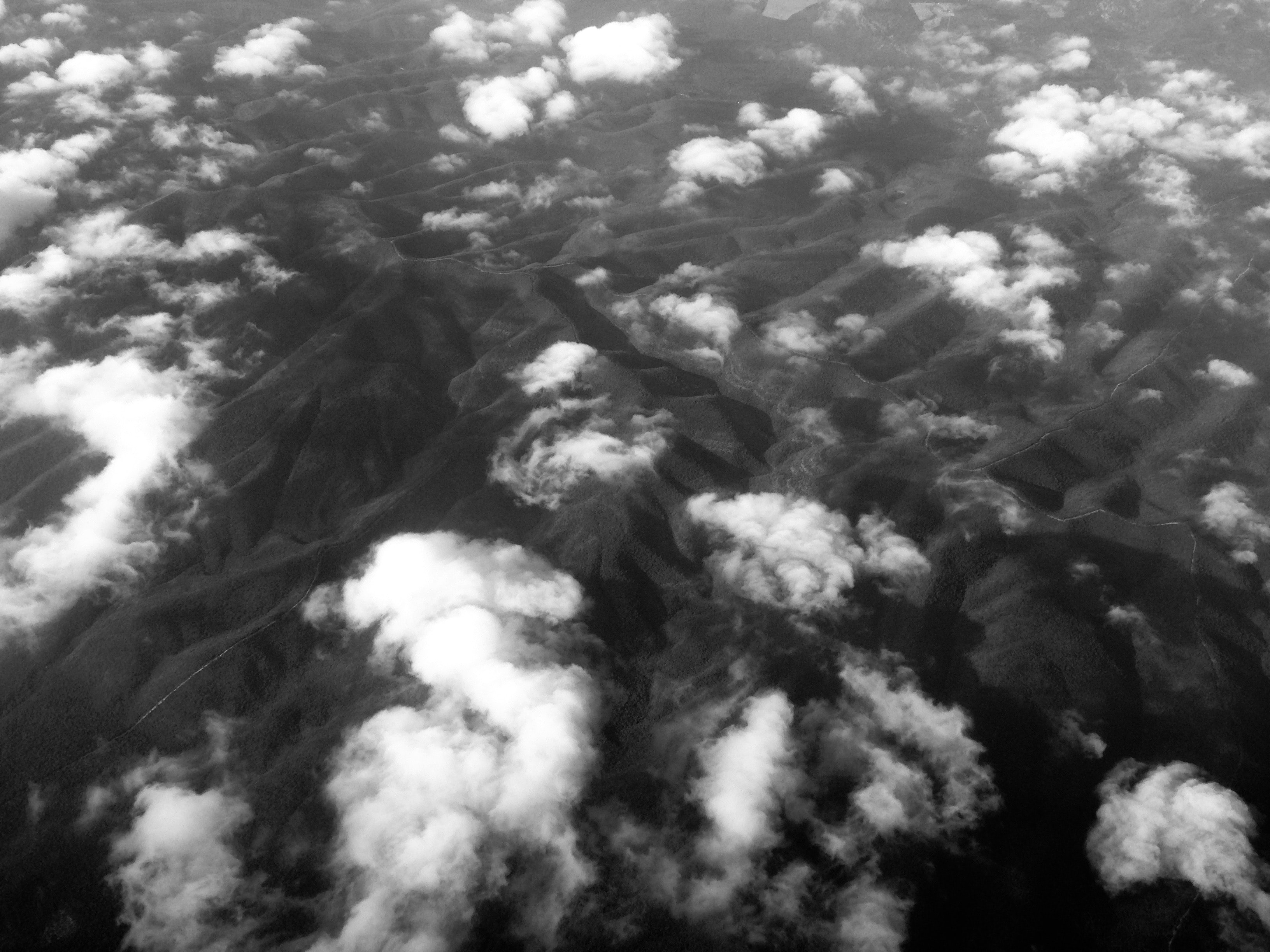 aerial photography of mountain vallet
