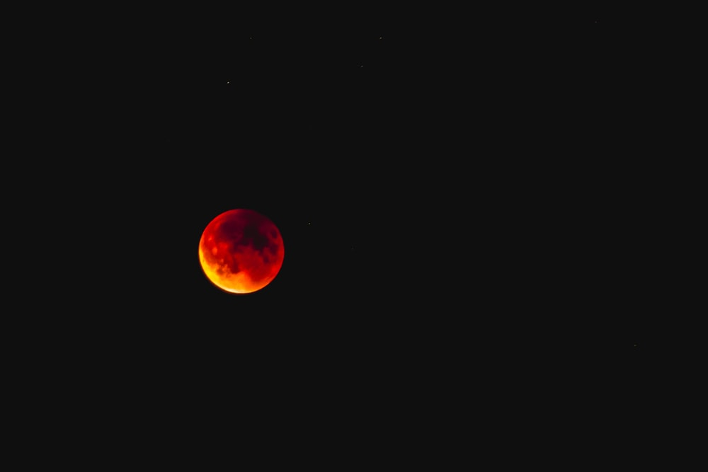 red full moon view