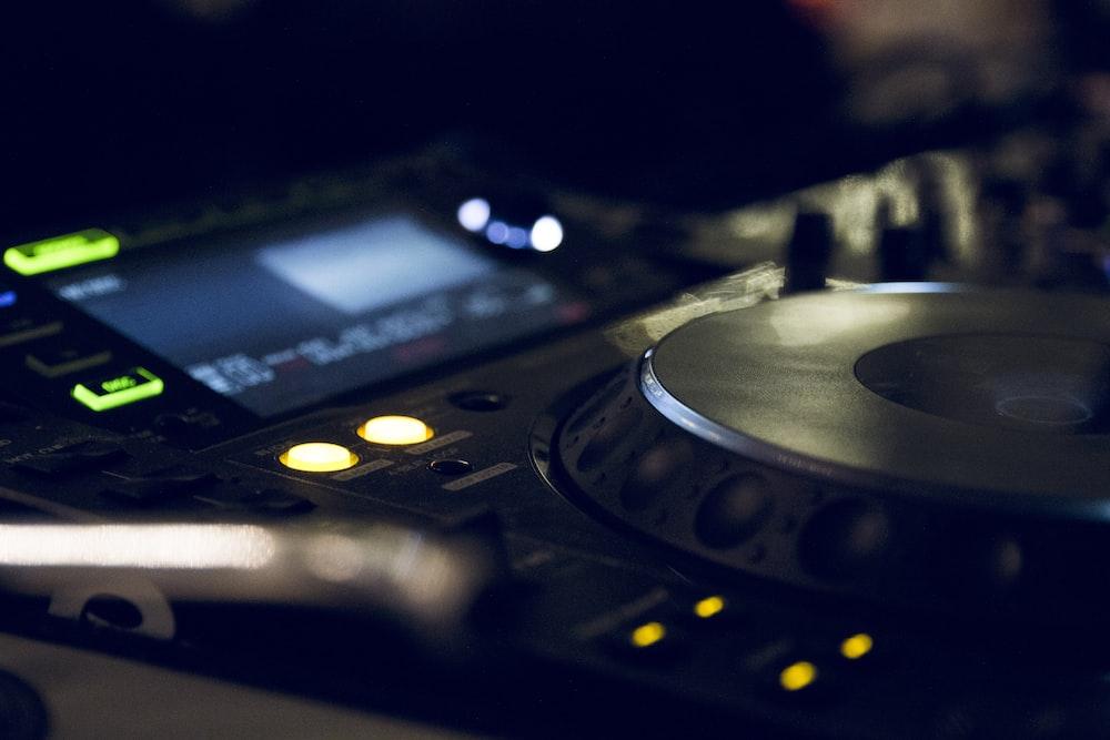 black DJ controller