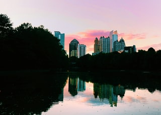 high rise building across body of water