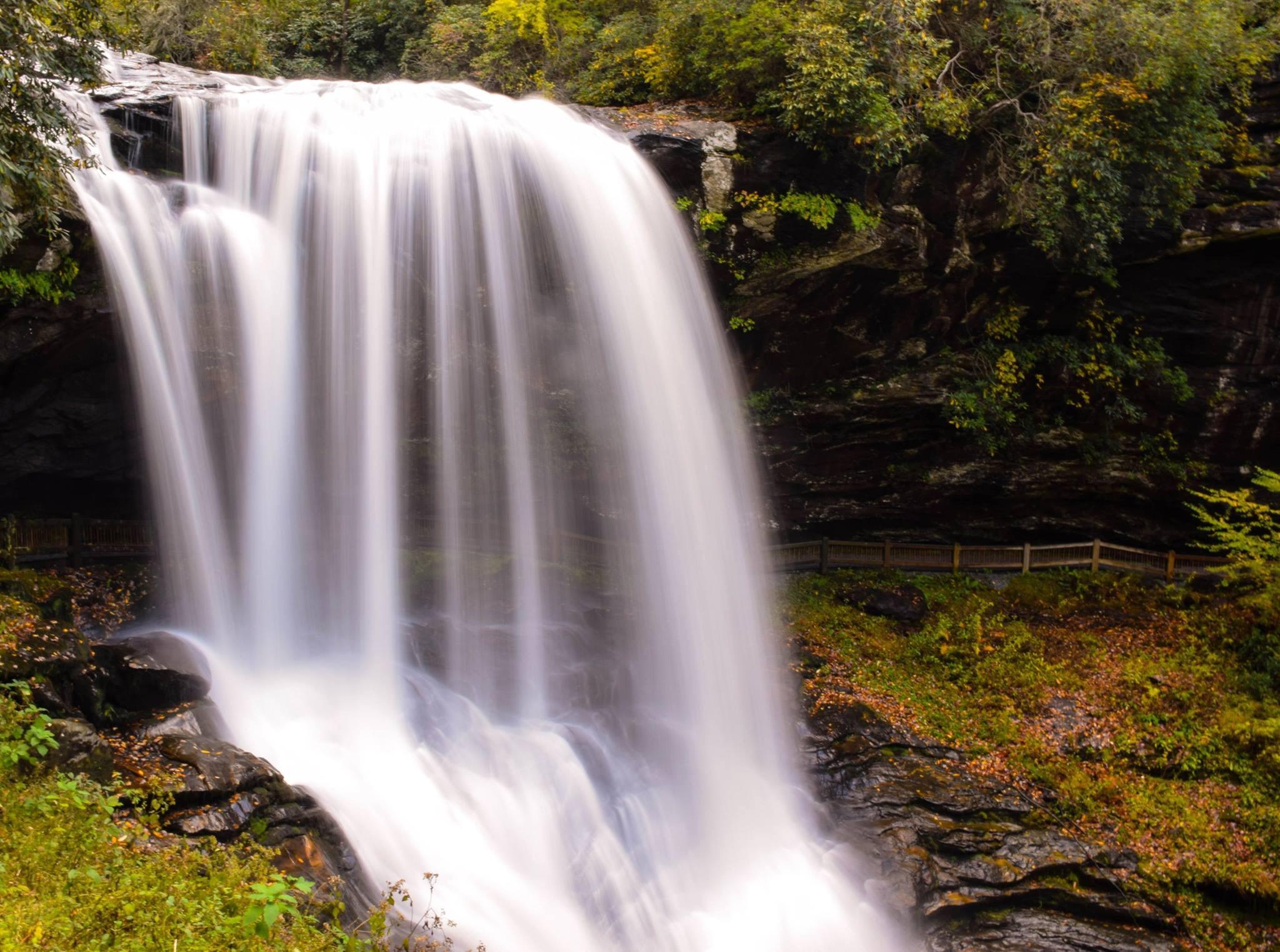 low exposure photo of waterfall