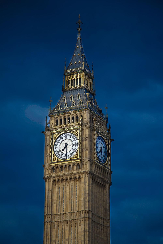 Big Ben during nighttime