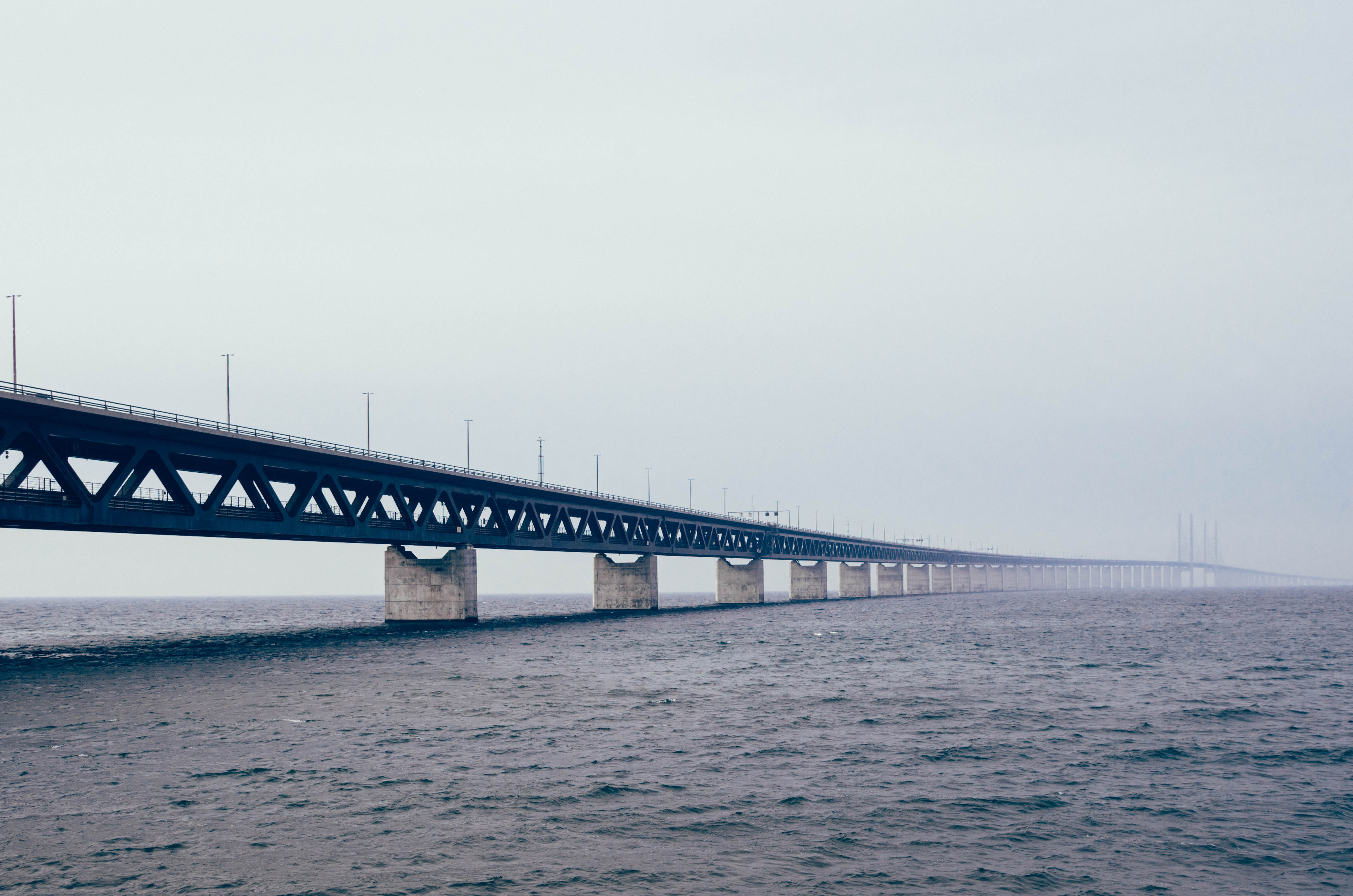 bridge surrounded by body of water during daytime