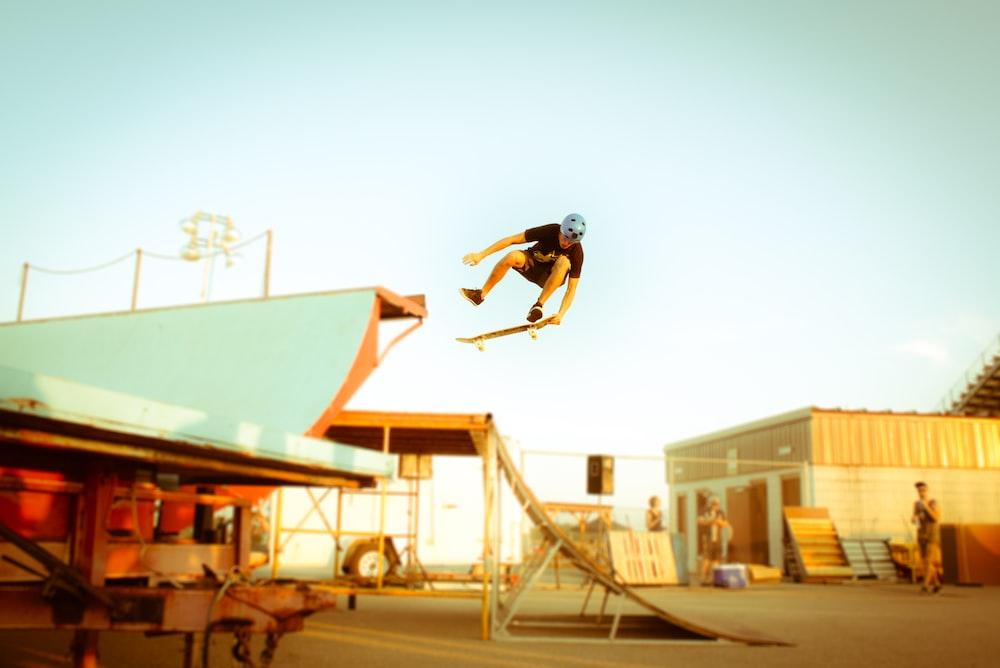 man performing skateboard