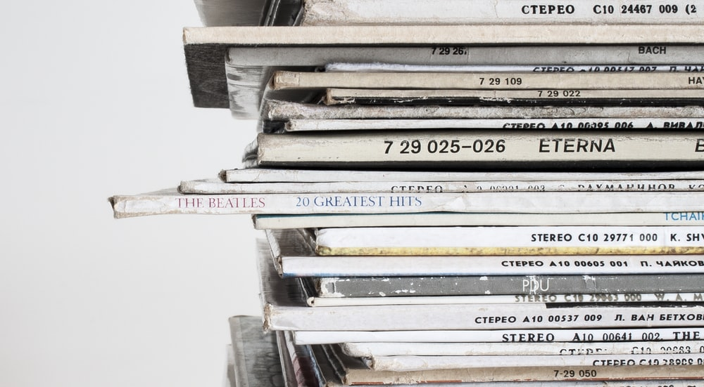 stack of white books