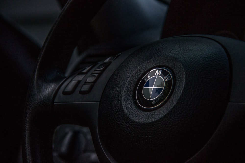 black BMW airbag cover