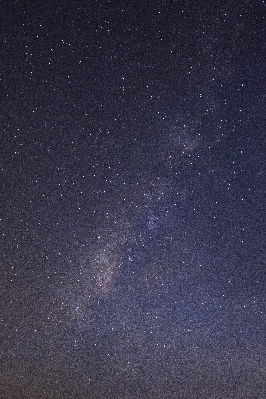 blue starry night sky