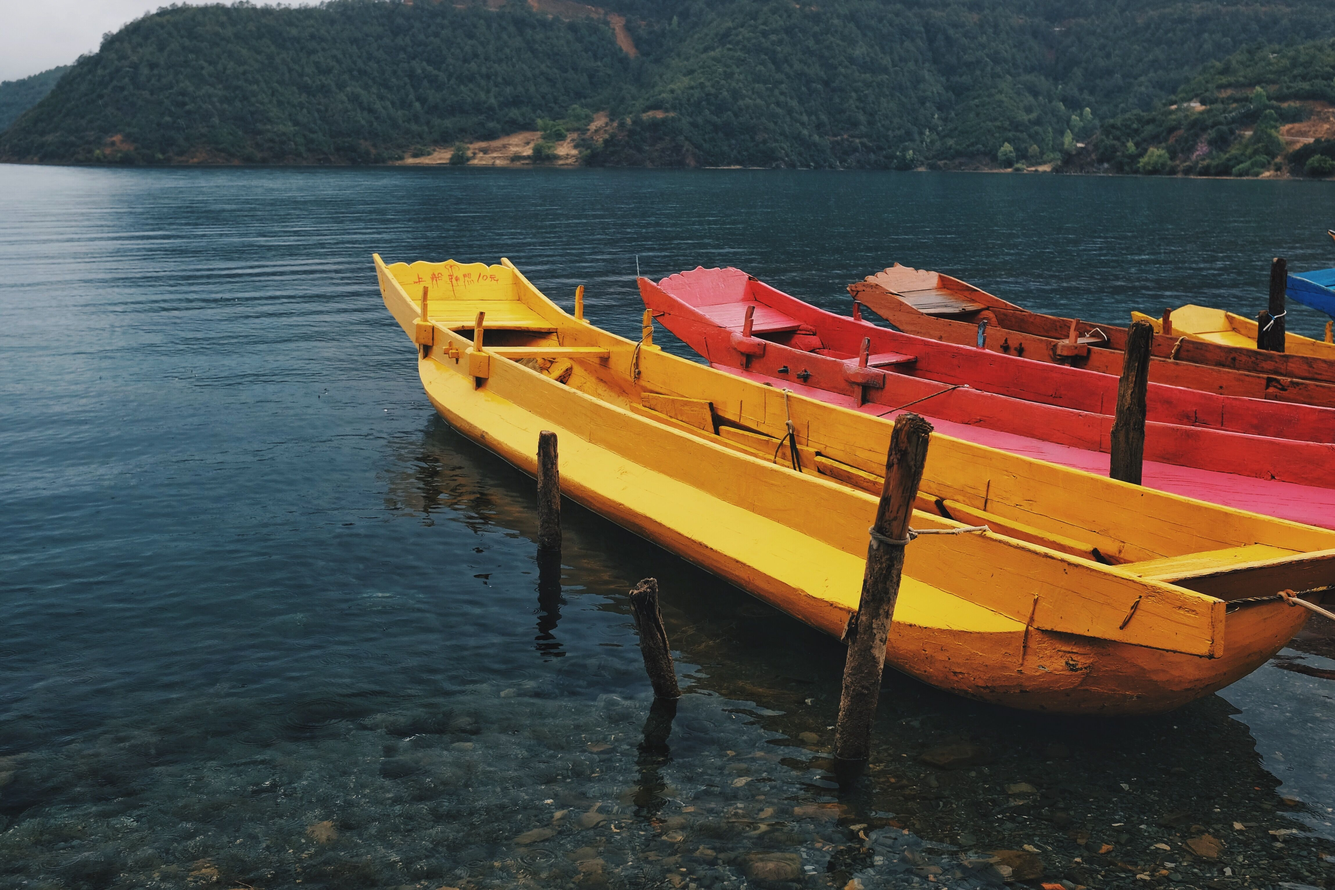 boats near seashore during daytime