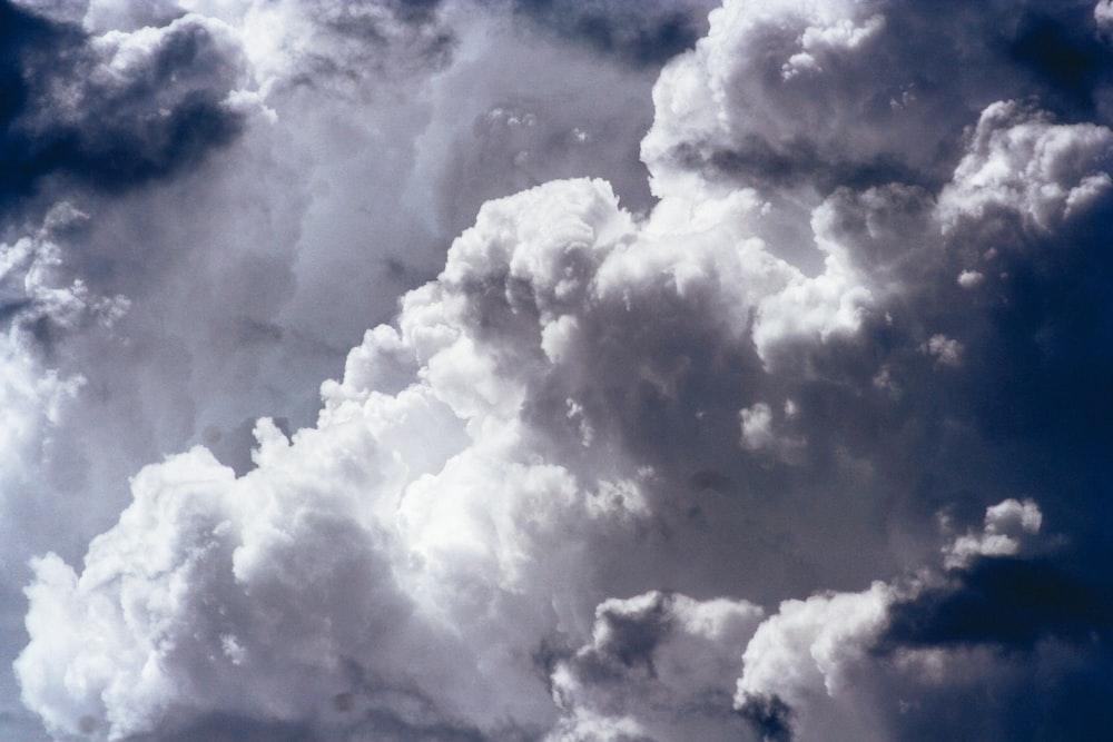 photo of cumulus clouds
