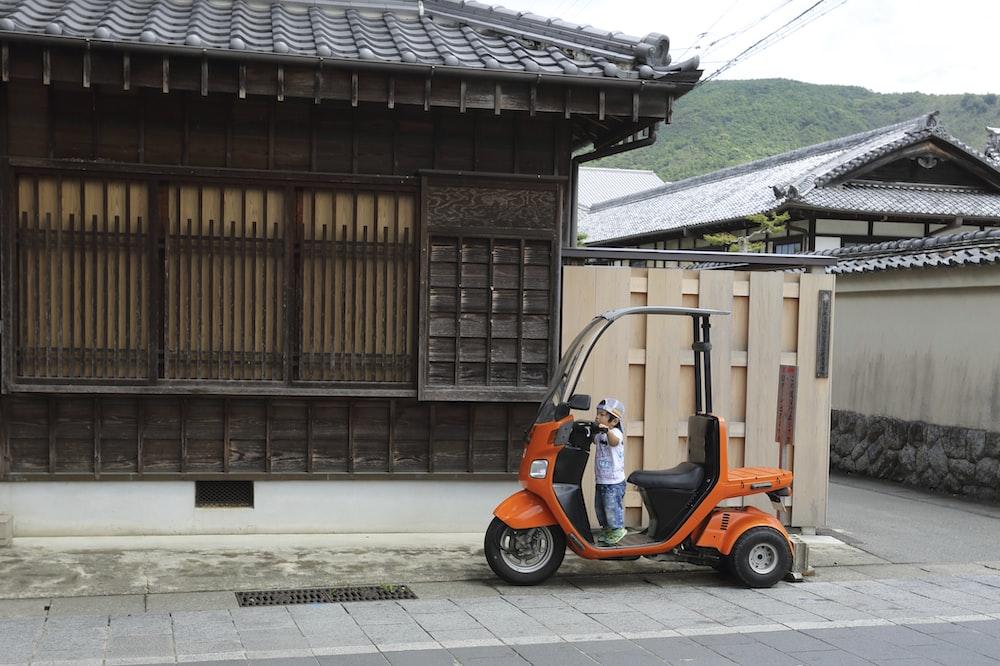 orange and black vehicle