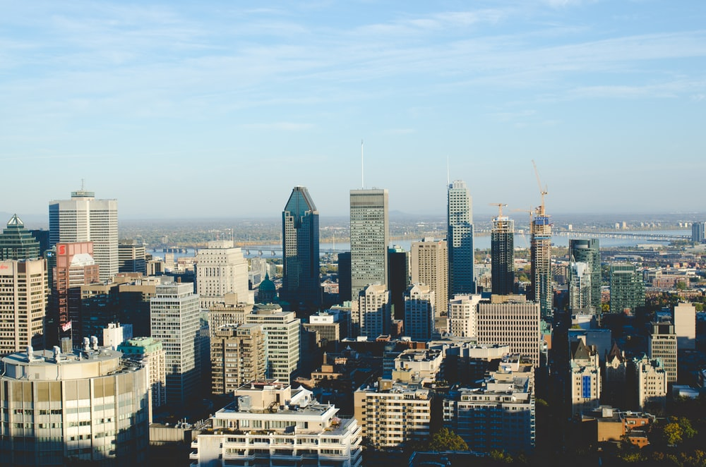 high-rise buildings near river