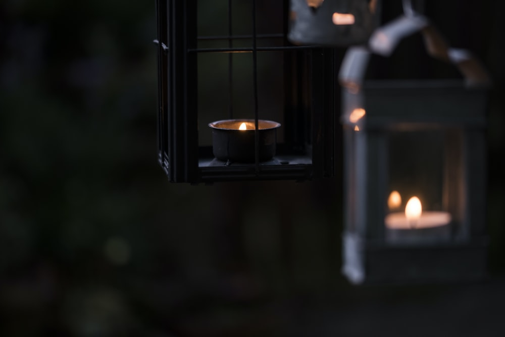 black outdoor lantern