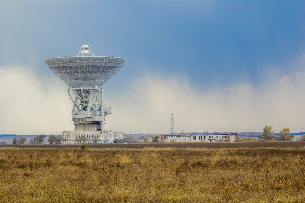 landscape photography of white satellite