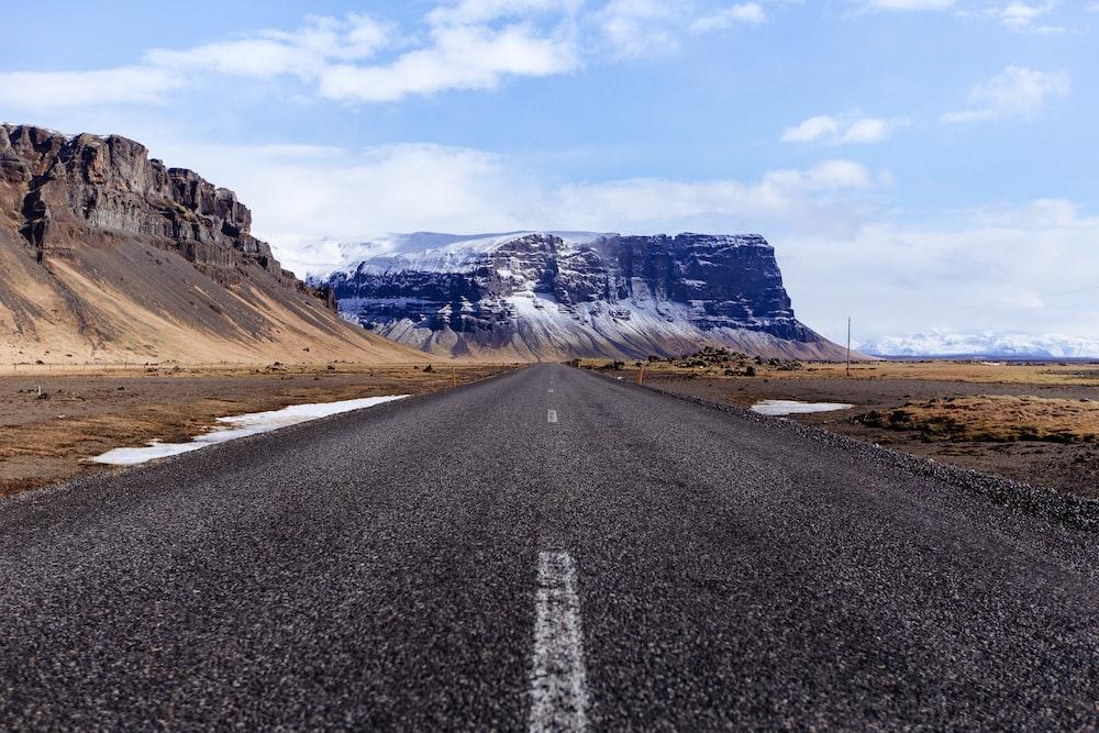 clear road near table mountain