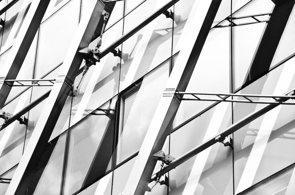 closeup photography of glass window building
