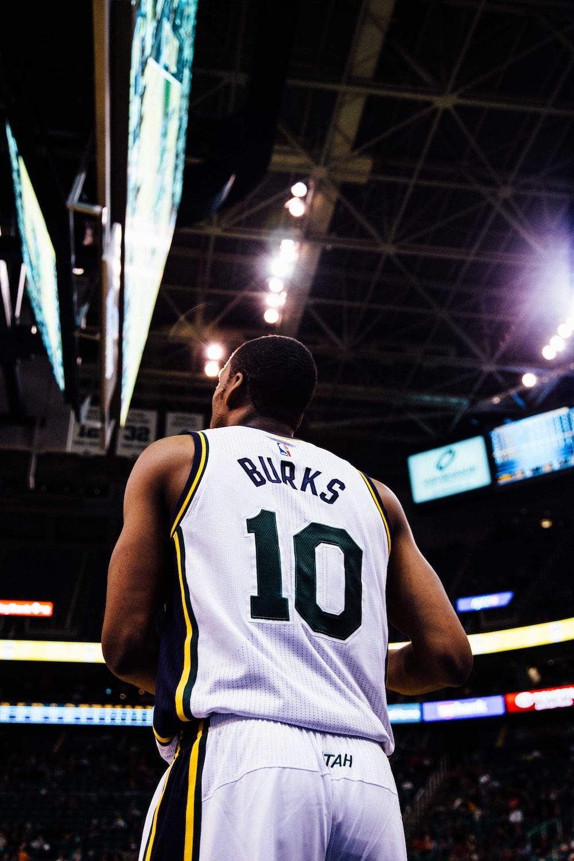 NBA basketball player Burks 10