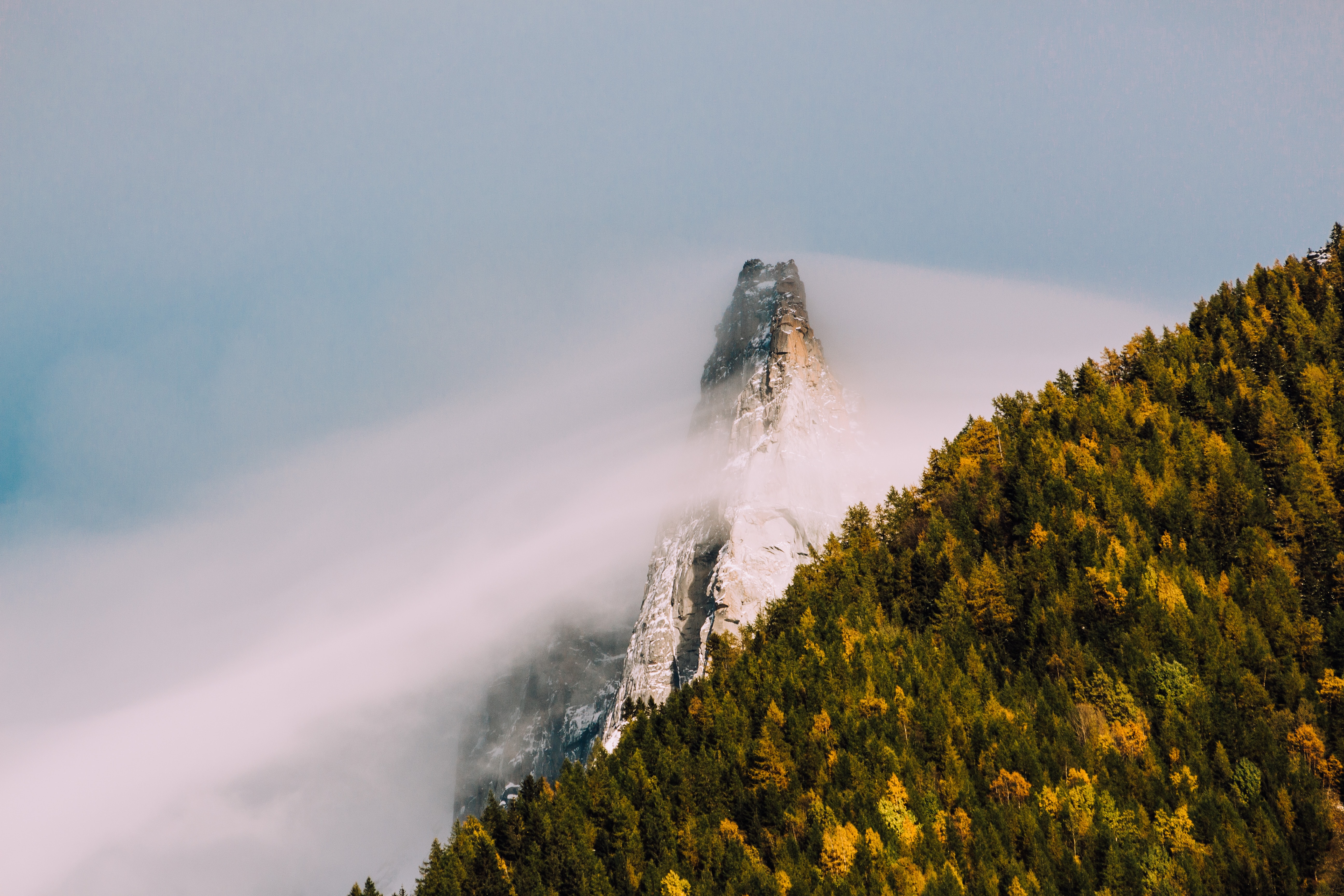 mountain cover fog