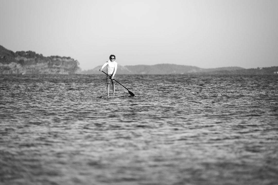 Paddleboarder enjoying the water