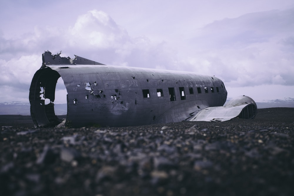 crashed airplane part