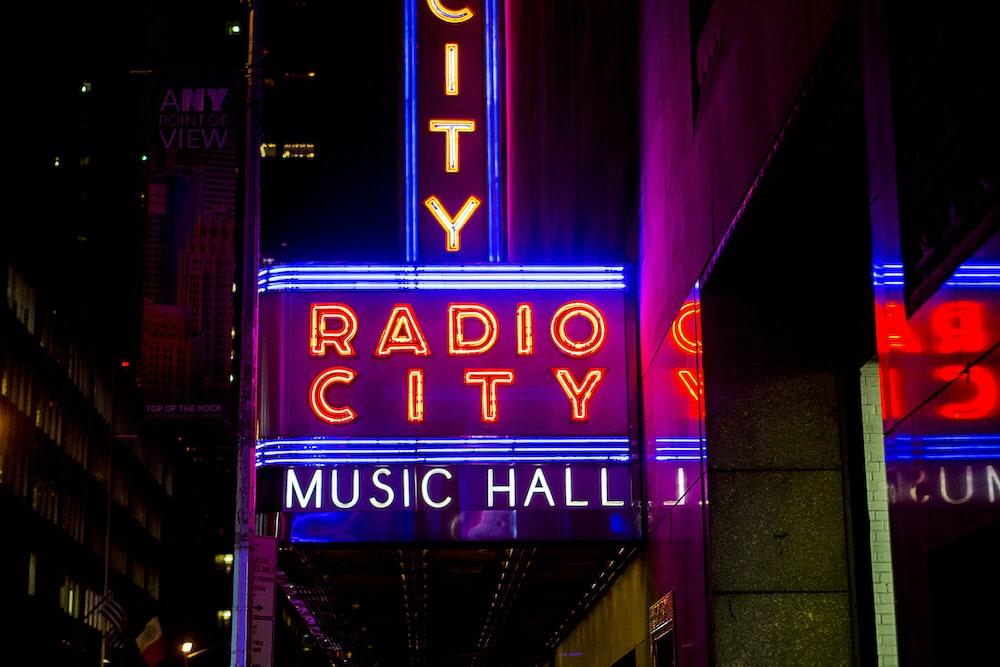 Radio City Music Hall street LED signage
