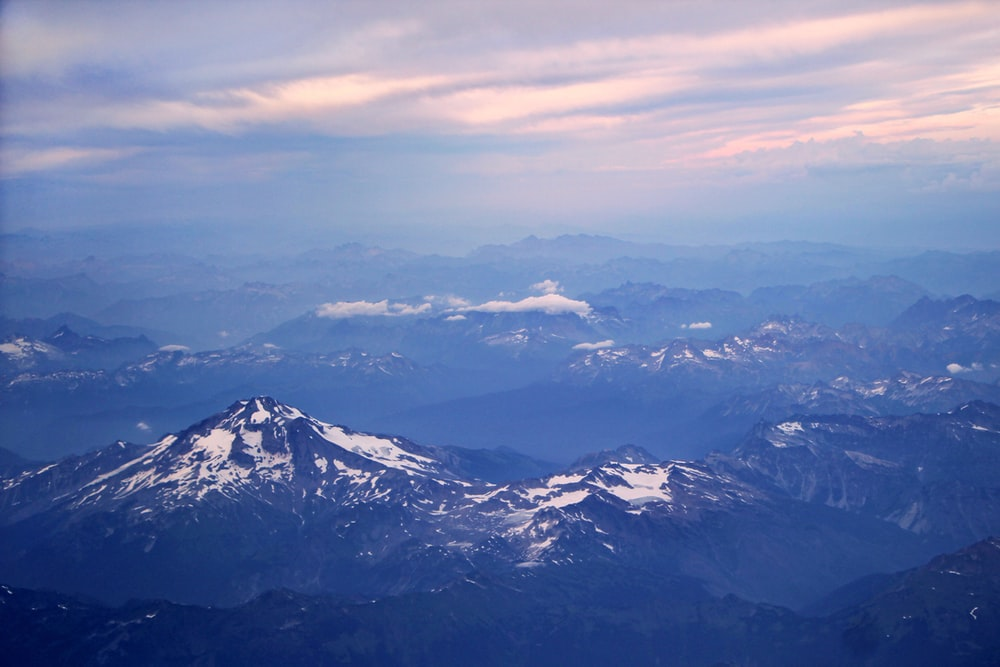 aerial photo of rocky mountains