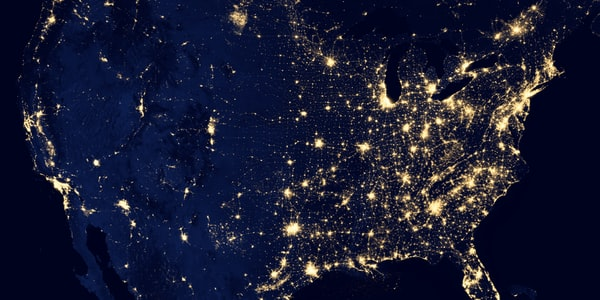 The view of the United States from space