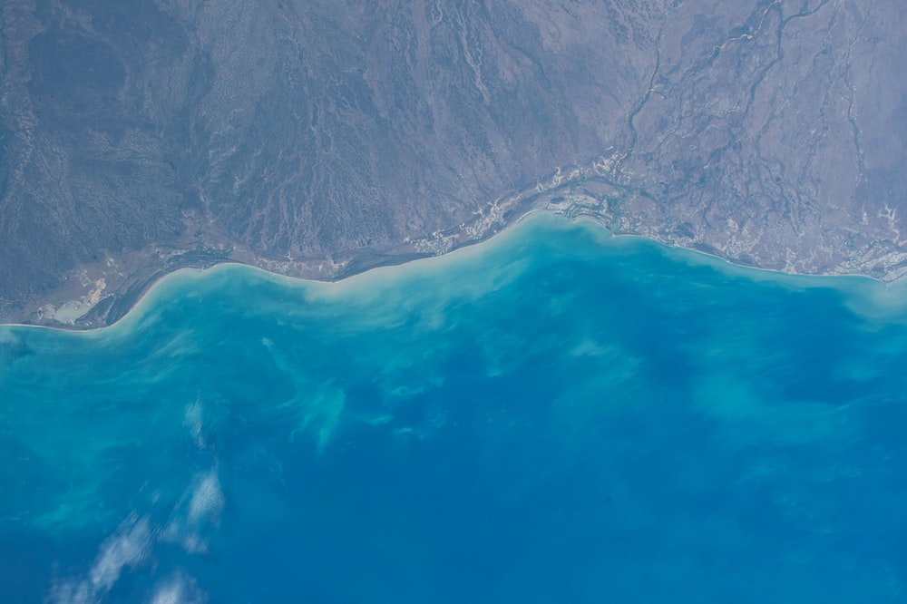 areal photography of body of water