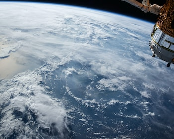 Earth and satellite