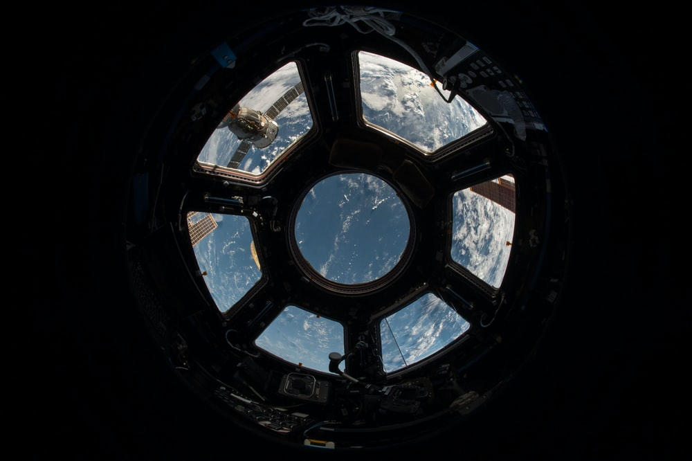 space shuttle view outside the Earth