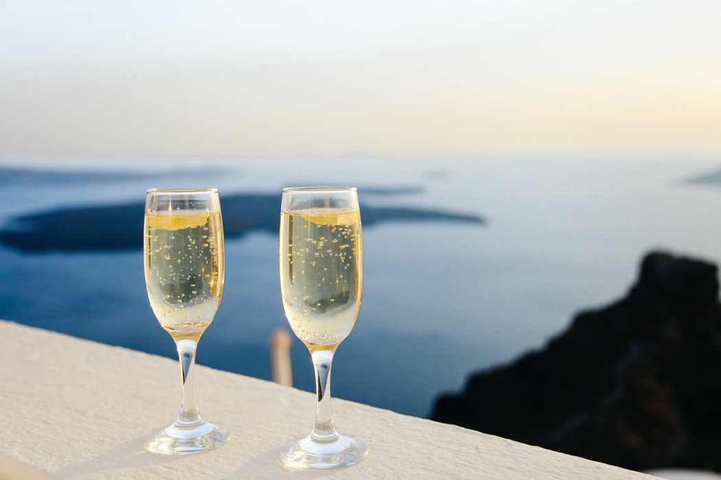 luxury travel champagne view