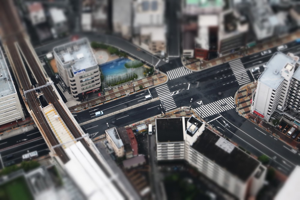 aerial photography of skyline city