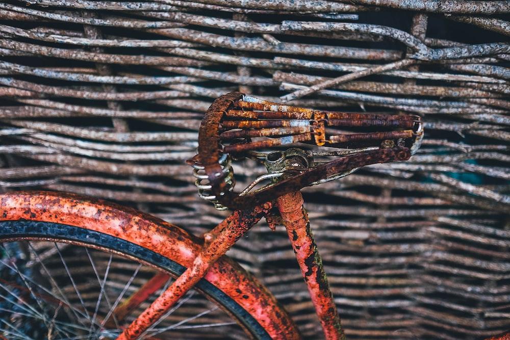 vintage brown bicycle