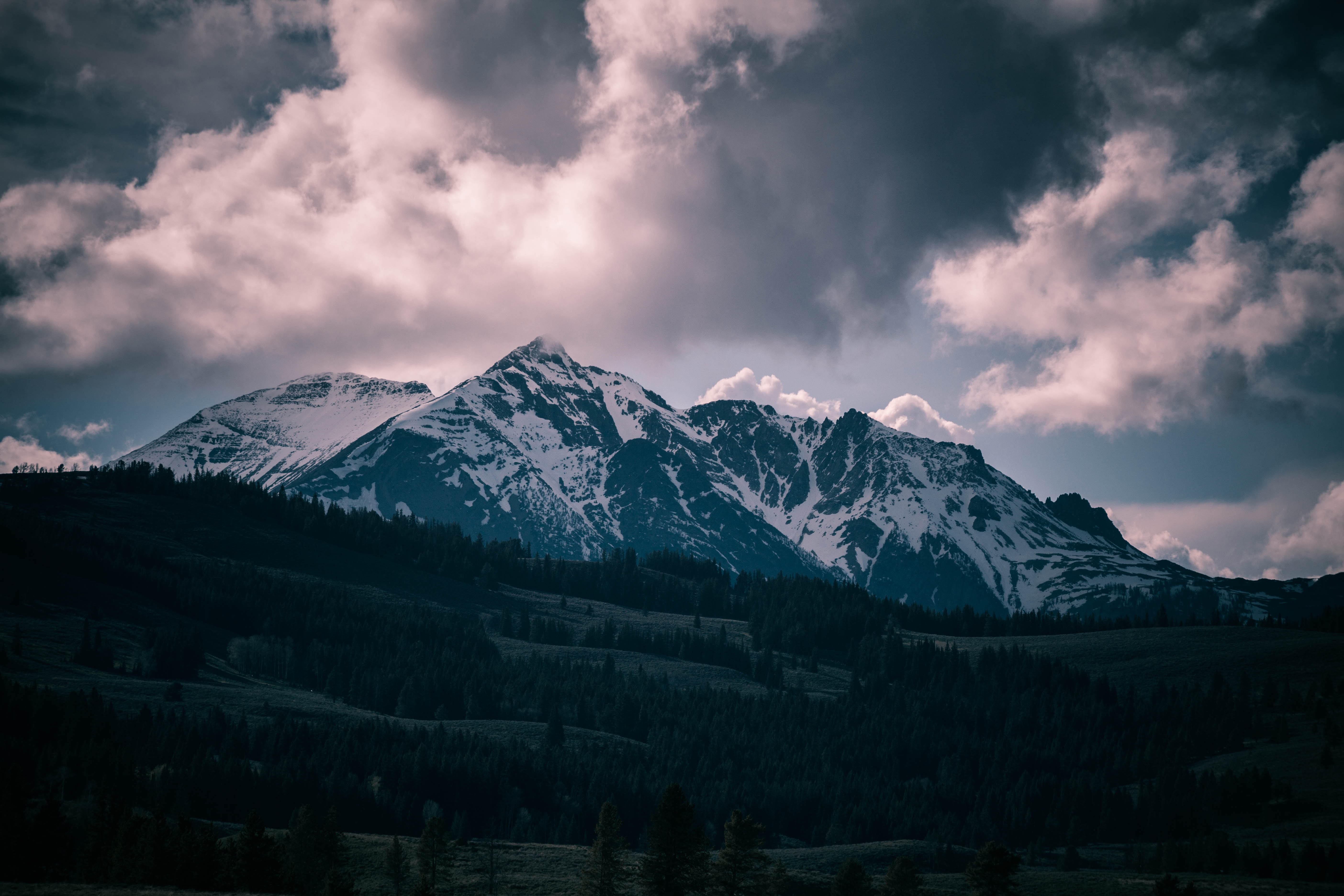 mountain covered with snow