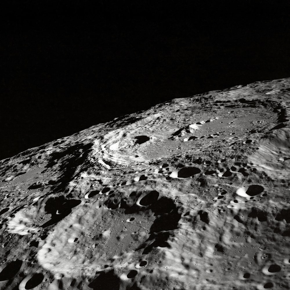 photo of moon surface