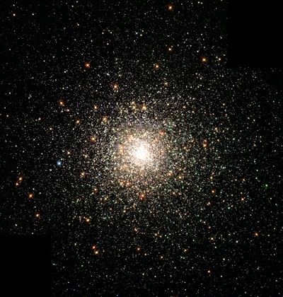 Bright Center Star Cluster