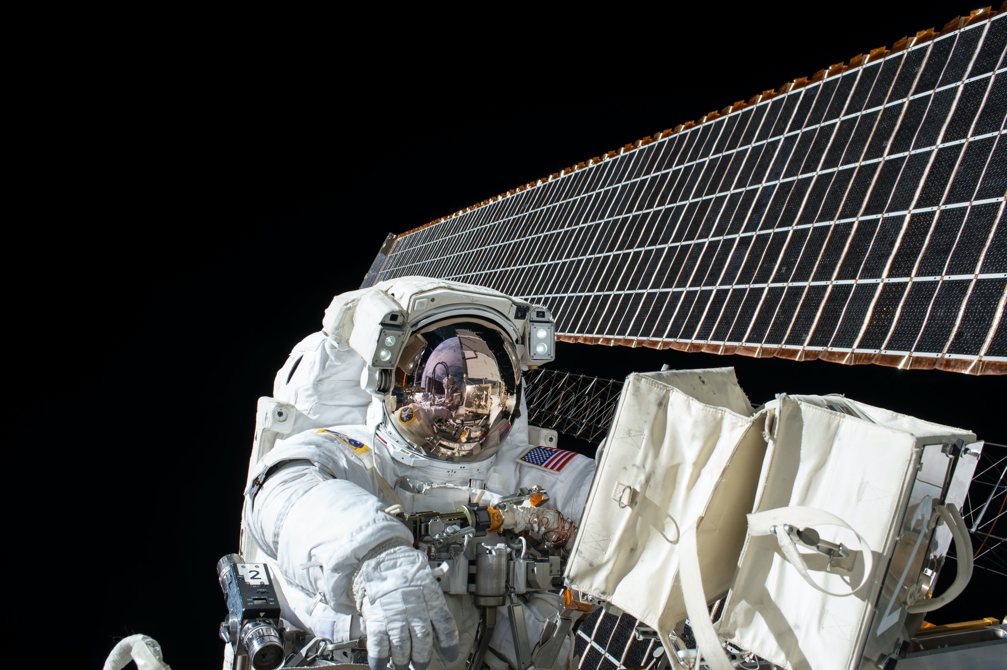 Astronaut spacewalking