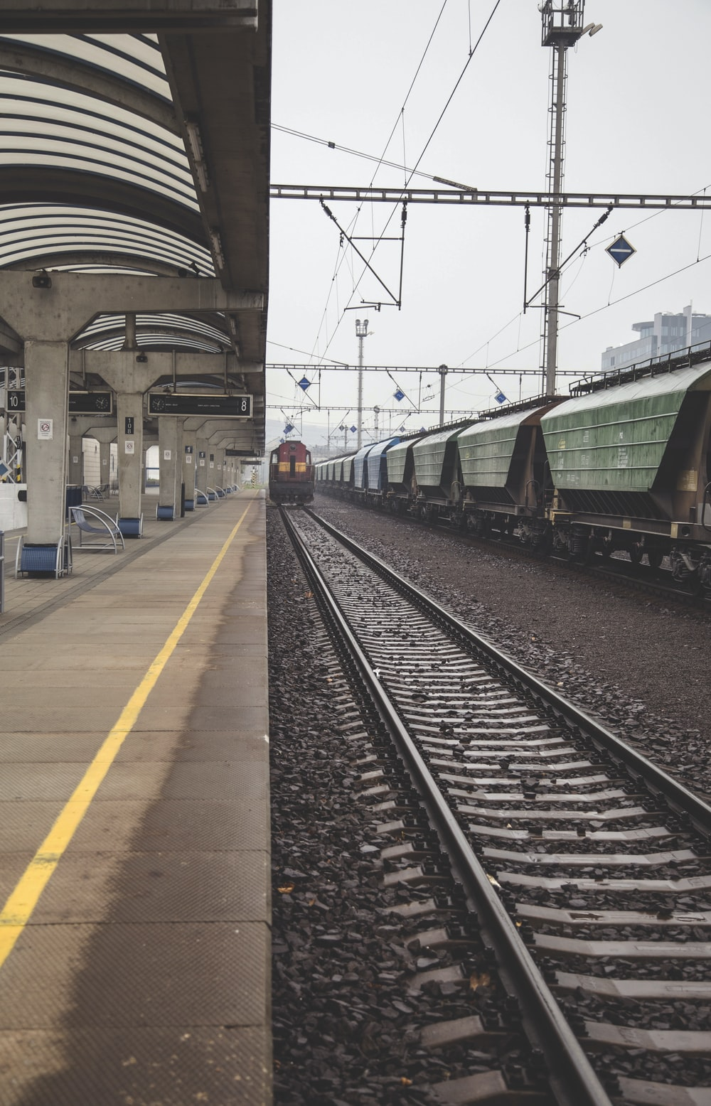 train station with train rail