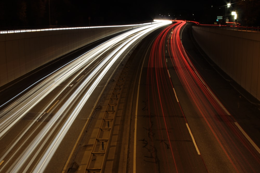 time lapse photography of northbound