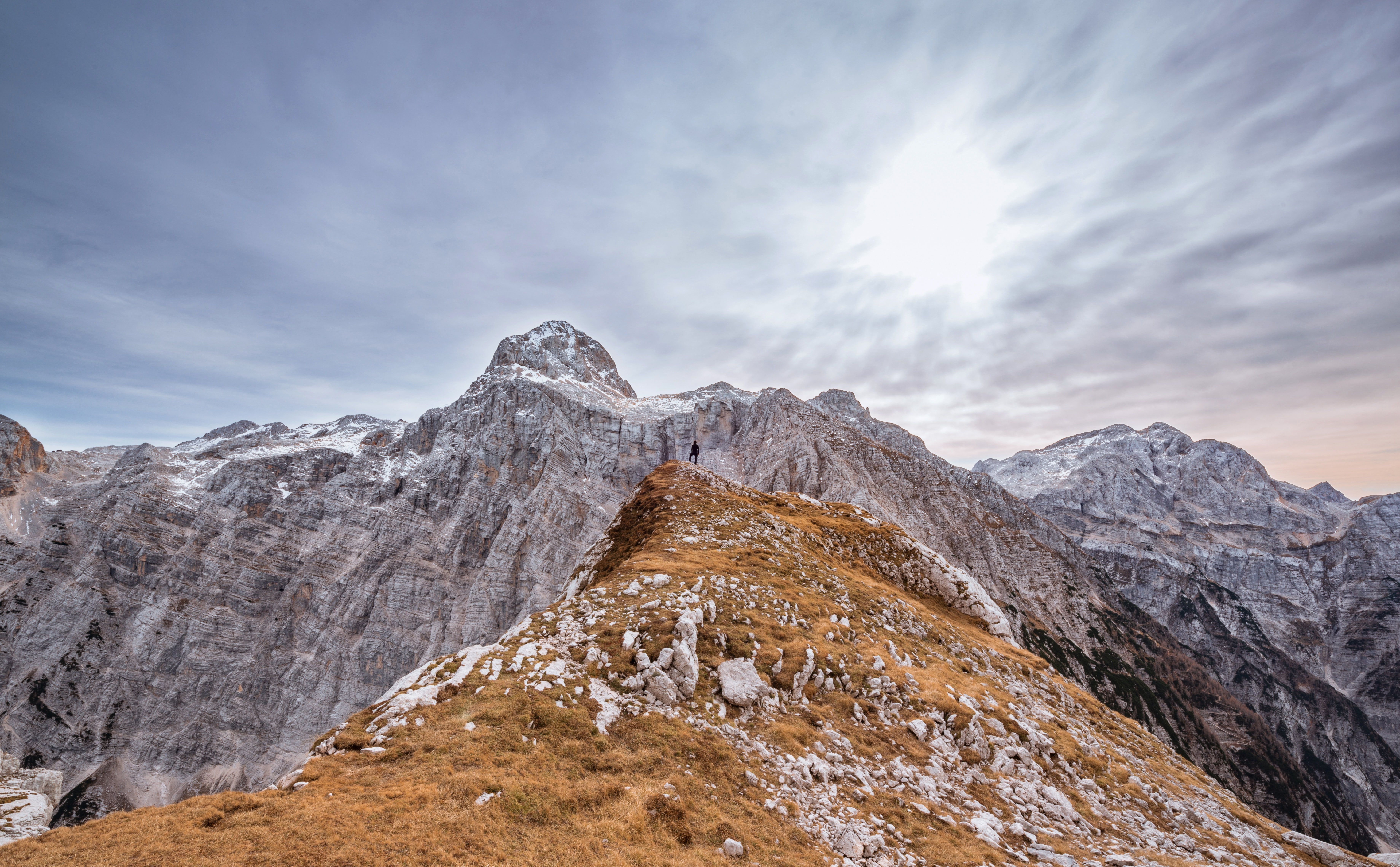 landscape photography of gray and brown mountains