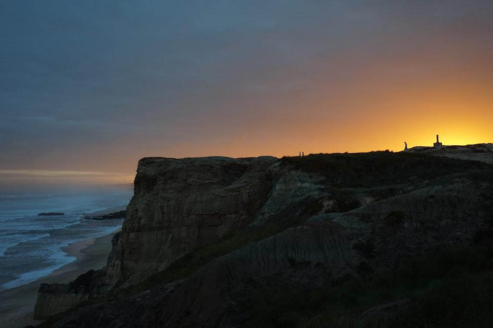 rock formation seashore