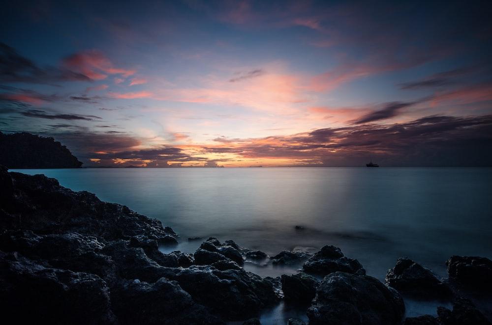 stones on side of sea