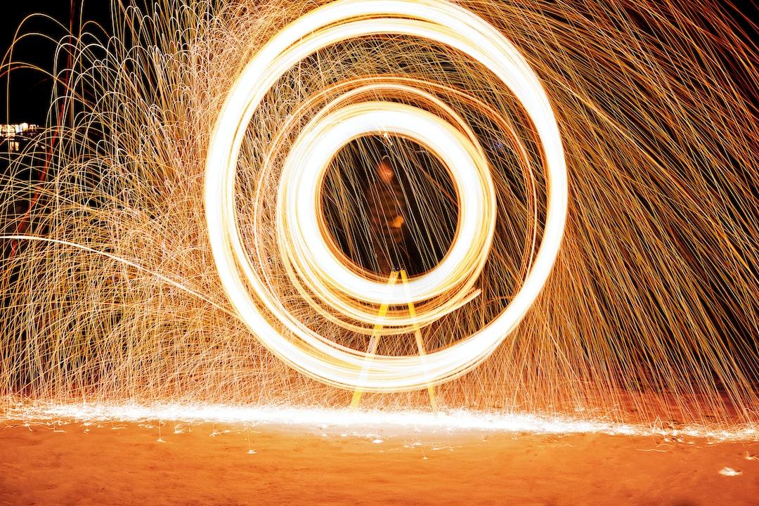 Orange light sparks