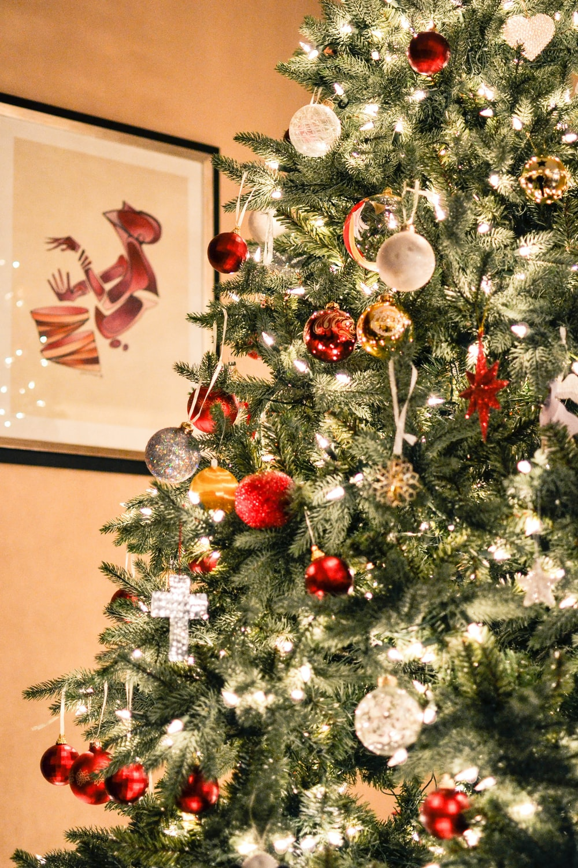 Ornament Christmas Christmas Light And Christmas Tree Hd