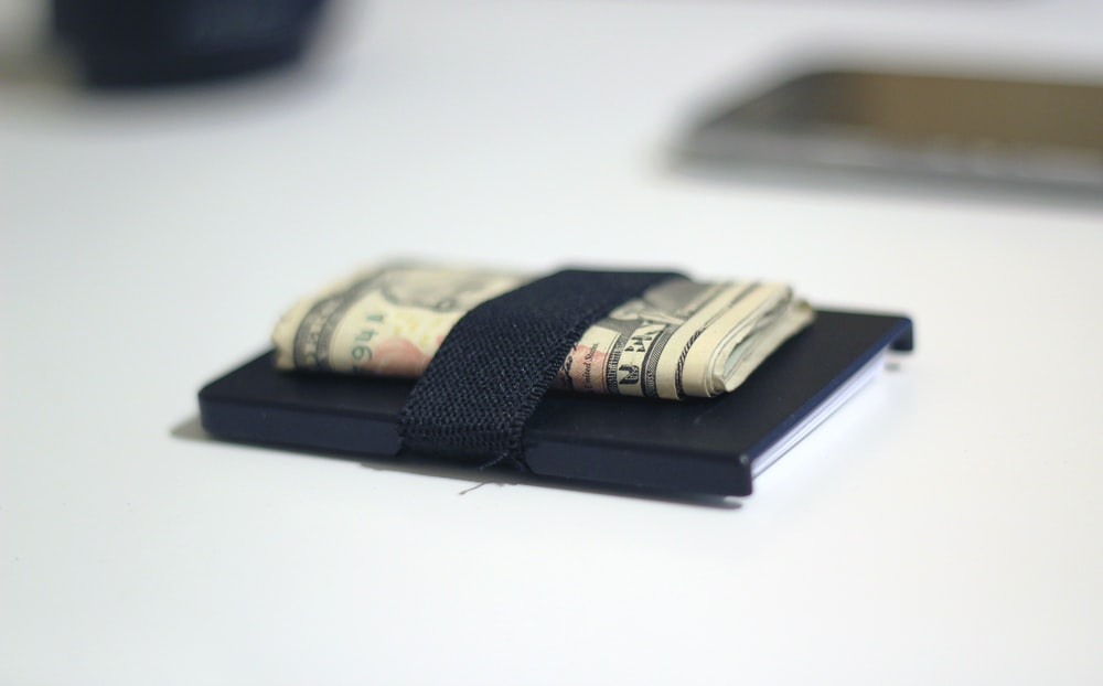 Paper money in a holder.