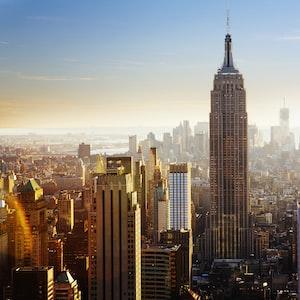 Bright Manhattan skyline