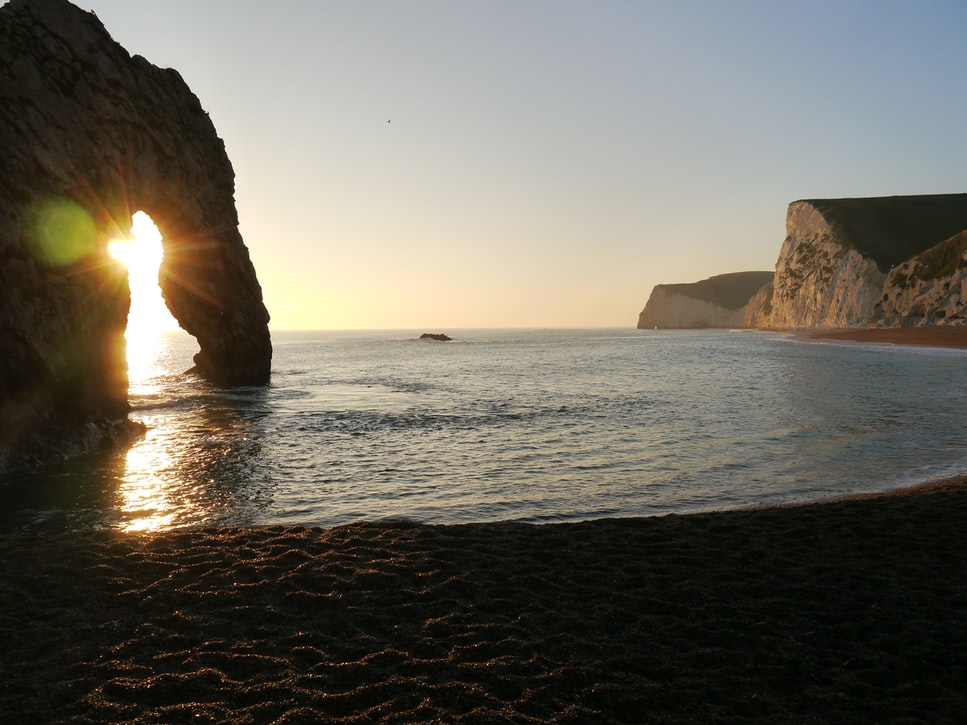 a cove on the jurassic coast