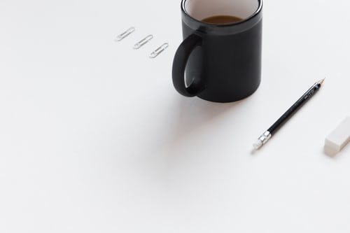 paper clip mug and pen