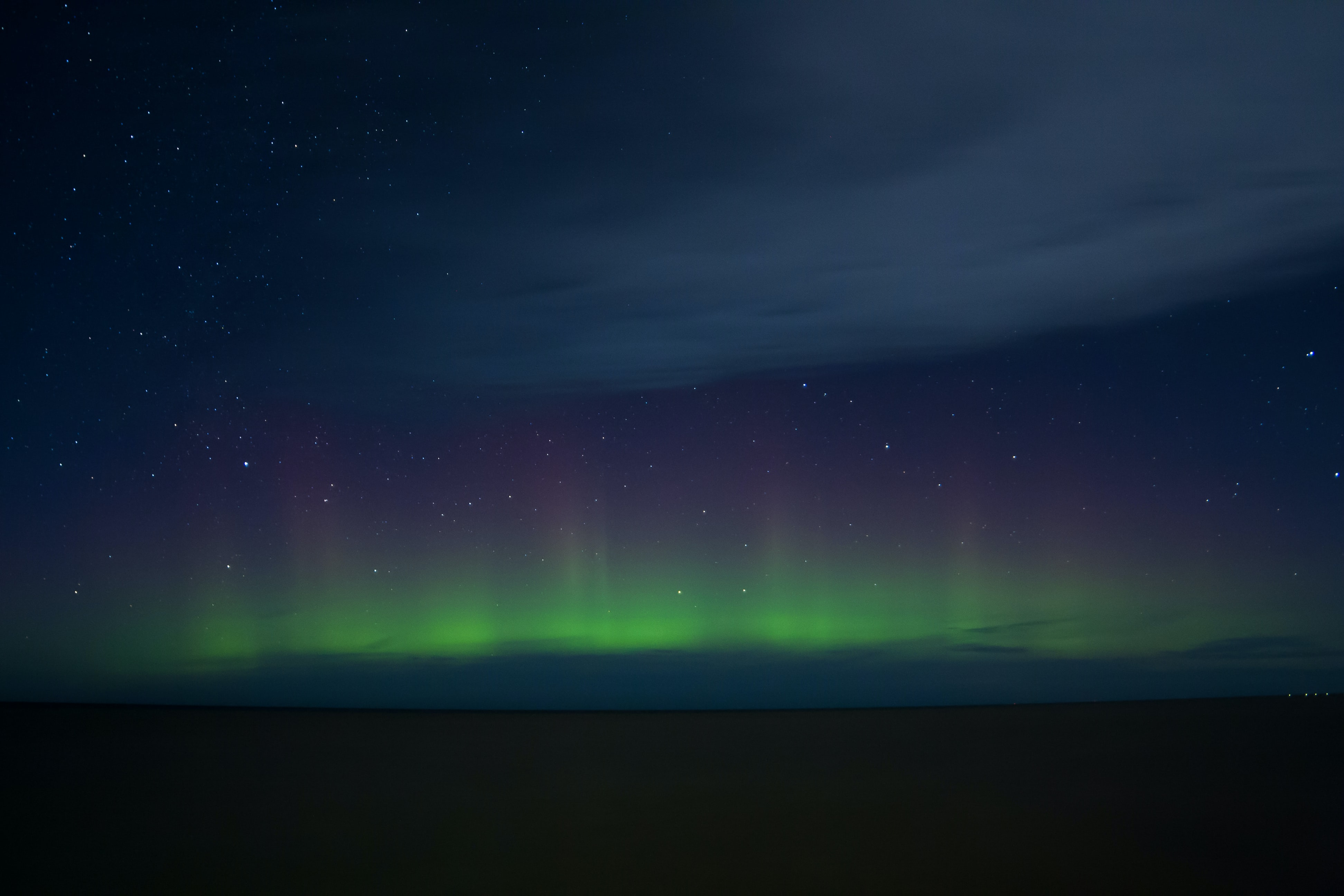 The Northern Lights across the sky as seen in Ontario.