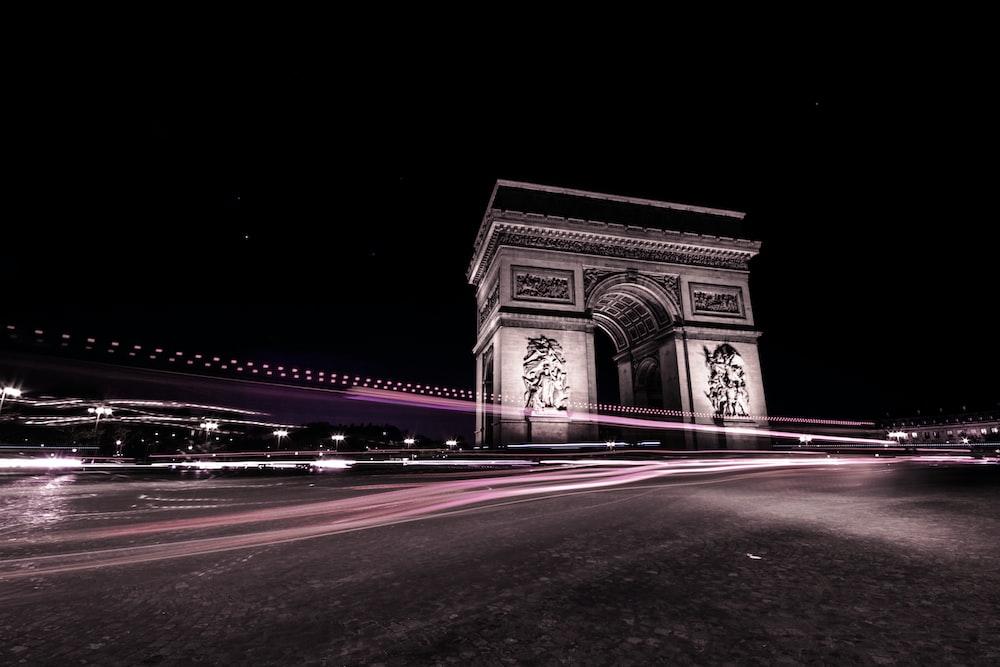 time-lapse photography of Arc de Triomphe, Paris France